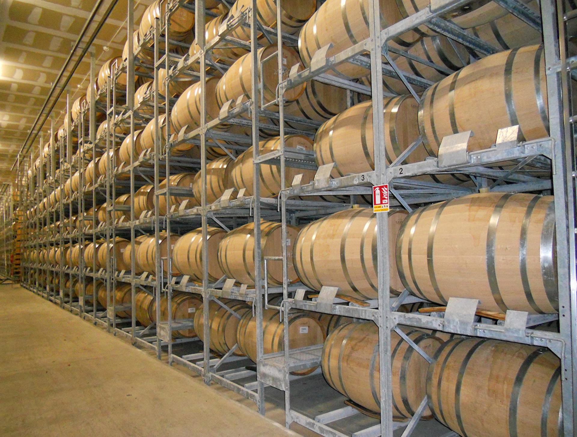 Rack de stockage barriques eau de vie