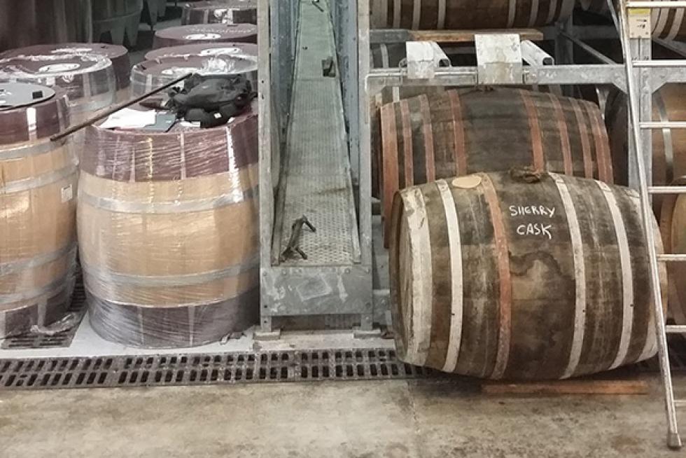 rack de stockage barriques hine