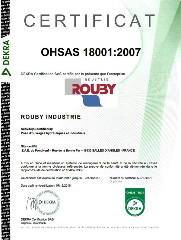 5 5 groupe rouby certification OHSAS18001