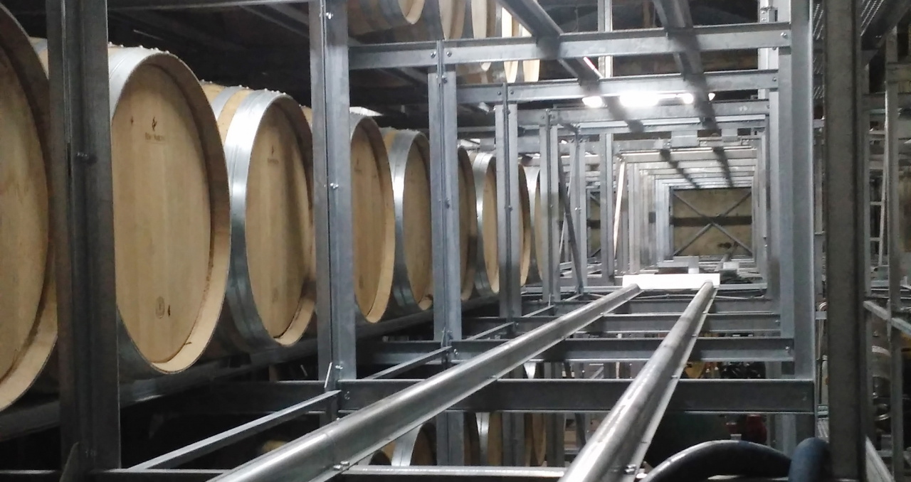 Racks de stockage barriques 400 litres