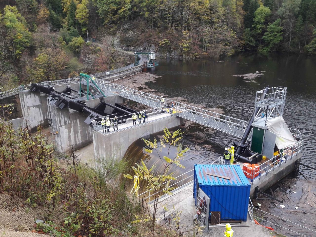 Remplacement de 3 évacuateurs de crues - barrage des essarts