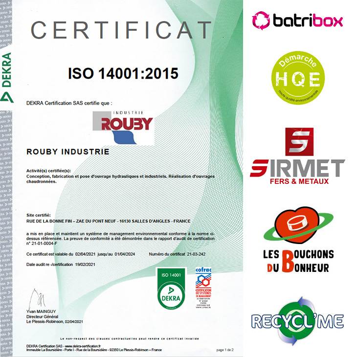 a propos rouby certification iso14001 2021