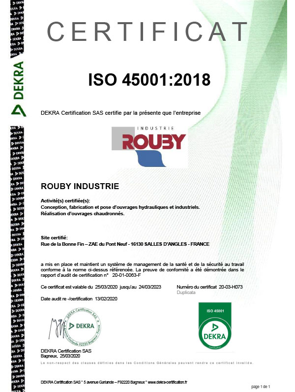 a propos rouby industrie demarche securite certification 2018